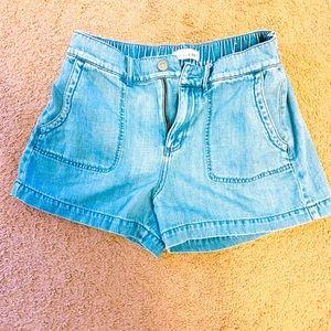 LOFT slouchy jean shorts